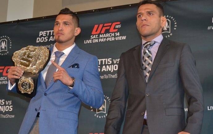 Encarada Anthony Pettis x Rafael dos Anjos, UFC 185, MMA (Foto: Raphael Marinho)