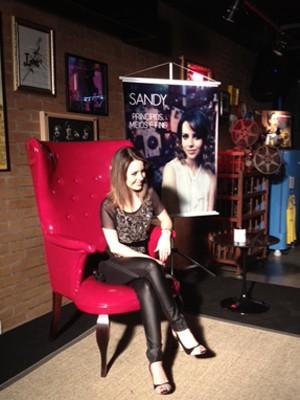 Sandy na entrevista coletiva, em SP, onde apresentou seu novo disco, em 30 de outubro de 2012 (Foto: Livia Machado/G1) (Foto: G1/Lívia Machado)