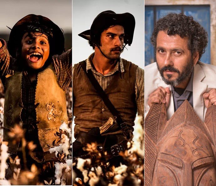 Cícero já está sendo interpretado por Lucca Fontoura e Pablo Morais nas gravações no Nordeste. Em seguida será a vez de Marcos Palmeira assumir o papel. Na ocasião da foto, o ator estava na festa de lançamento da nova novela (Foto: Caiuá Franco/ Globo)