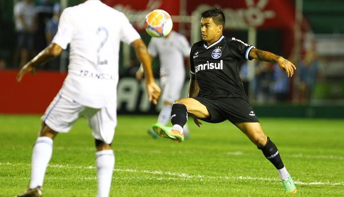 Dudu, Cruzeiro-RS x Grêmio (Foto: Lucas Uebel/Grêmio FBPA)