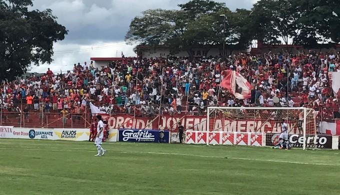 Gol América TO e Caldense (Foto: América TO/Divulgação)