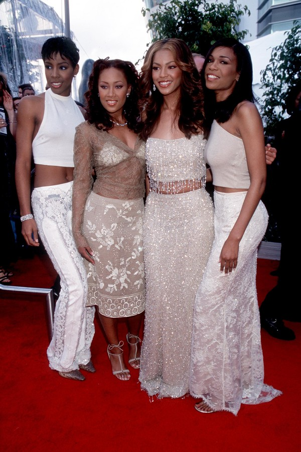 Destiny's Child no tapete vermelho do Grammy em 2000 (Foto: Getty Images)