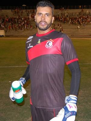 Glédson, goleiro do Campinense (Foto: Silas Batista / GloboEsporte.com/pb)
