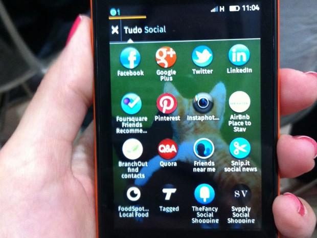 Telefonica-Vivo anunciou o lançamento no segundo semestre de um smartphone com sistema Firefox OS (Foto: Laura Brentano/G1)