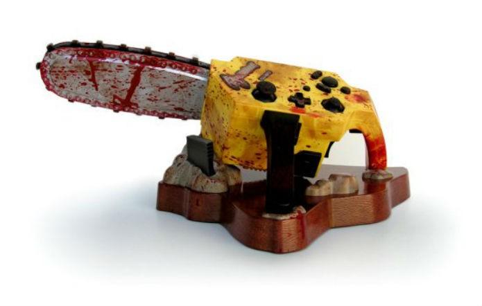 Controle motosserra de Resident Evil 4 tinha vibração e reproduzia sons (Foto: Divulgação/Capcom)