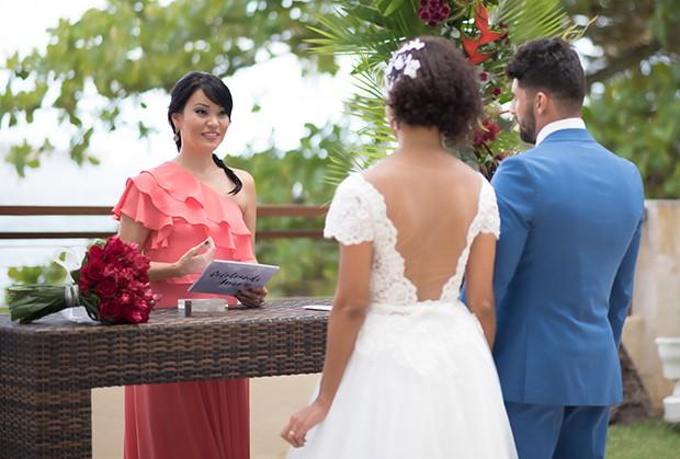 Geovanna Tominaga realiza cerimônia de casamento (Foto: Denise Ricardo/ Divulgação)