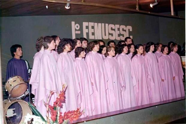 Em 1977, ainda com o nome Femusesc, festival tinha perfil competitivo (Foto: Reprodução)