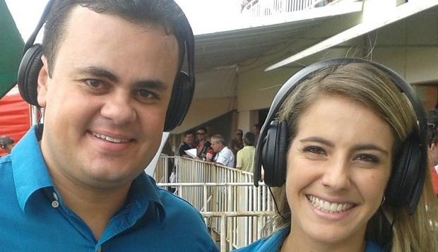 Alessandra e Alisson Francisco, da RBS TV (Foto: RBS TV/Divulgação)