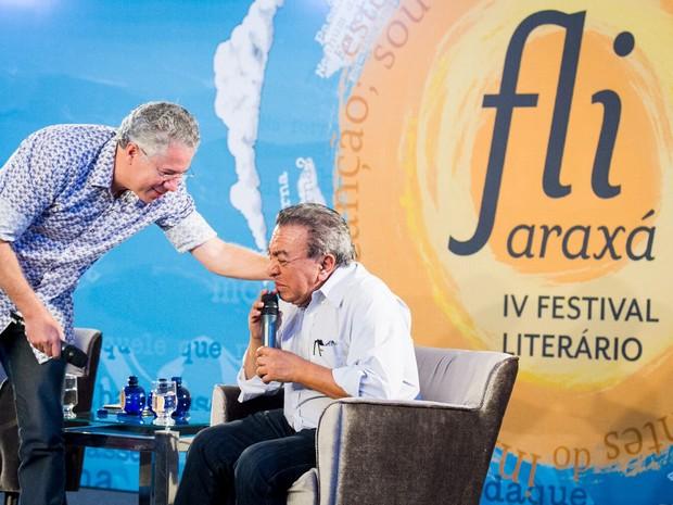 Maurício de Sousa Emocionado Fliaraxá Araxá (Foto: Fliaraxá/Divulgação)