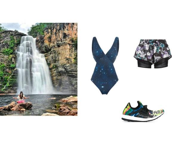 Chapada dos Veadeiros: maiô Tryia; shorts Adidas by Stella McCartney; tênis Salinas  (Foto: Instagram)