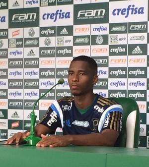 Matheus Sales Palmeiras coletiva (Foto: Felipe Zito)