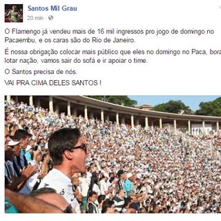 Santos Mil Grau - Santos - Pacaembu (Foto: Reprodução/Facebook)
