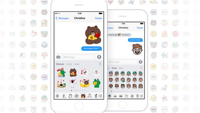 Teclado com emoji do Line traz update (Foto: Divulgação/Line)