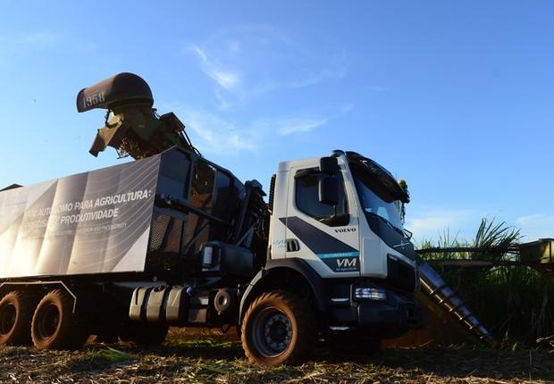 Caminhão autônomo da Volvo, feito sob encomenda da Usaçucar (Foto: Divulgação/Volvo)