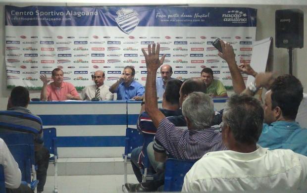 Reunião no CSA define os rumos do clube para a próxima temporada (Foto: Caio Lorena / Globoesporte.com)