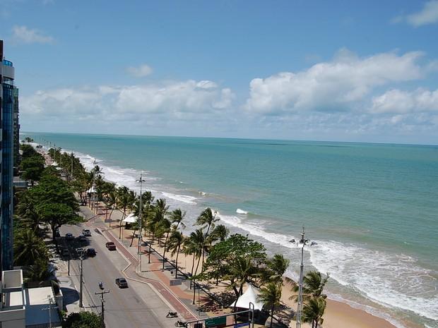 Praia de Boa Viagem, na Zona Sul do Recife (Foto: Luna Markman/G1)