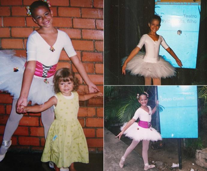 Bruna Marquezine fez balé na infância (Foto: Arquivo Pessoal)