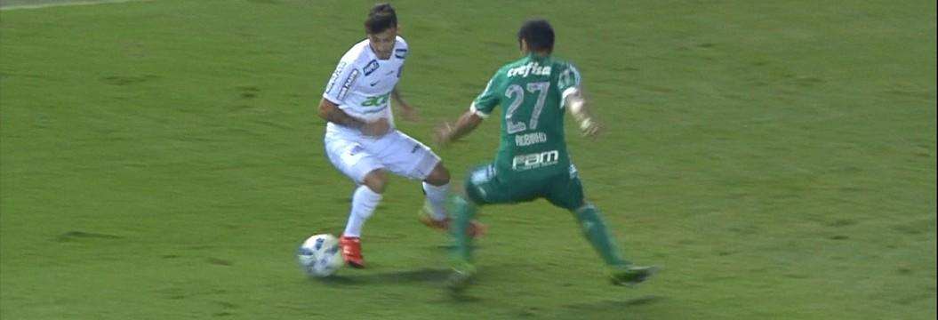 Santos bate Palmeiras em jogo tenso e fica a um empate do título
