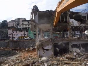 A demolição vai permitir a construção do Portal do Príncipe (Foto: Reprodução/ TV Gazeta)
