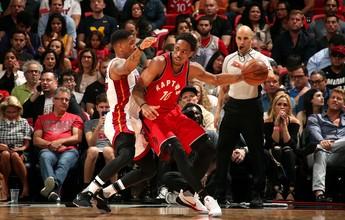 Com 40 pontos de DeRozan, Raptors arrancam virada diante do Heat