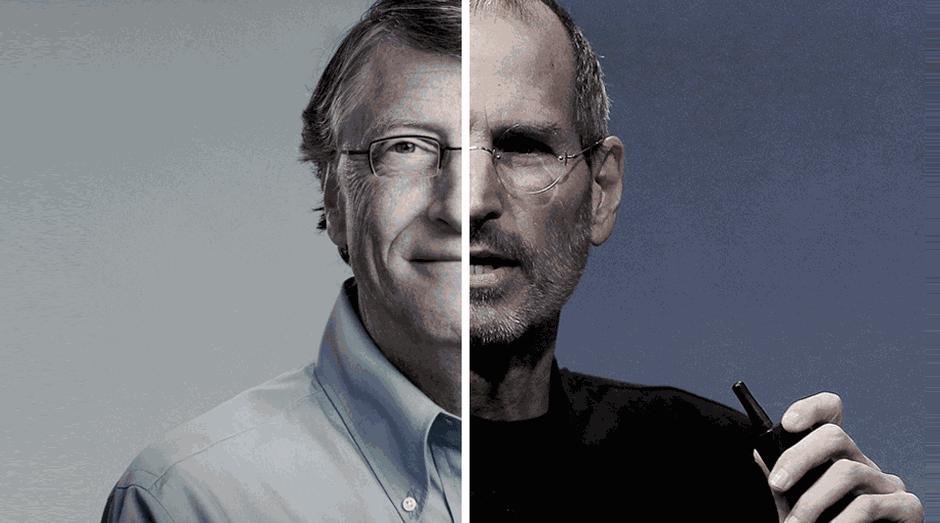 Bill Gates e Steve Jobs: saída dos dois da linha de frente da Microsoft e da Apple prejudicou empresas (Foto: Endeavor Brasil)