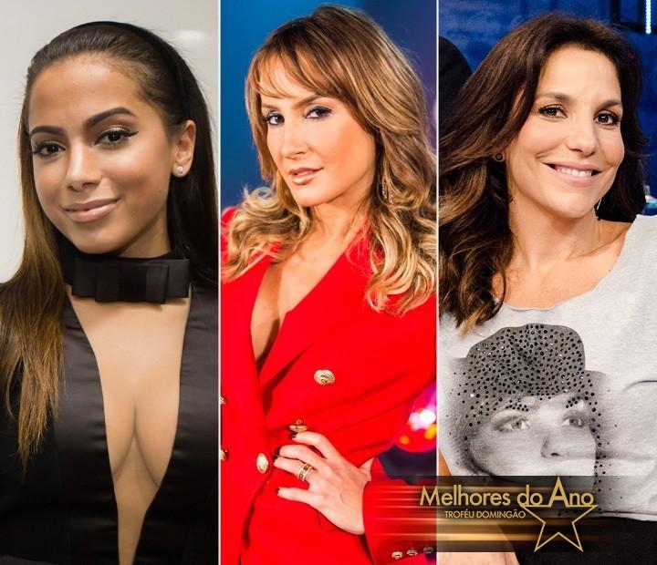 Anitta concorre com Claudia Leitte e Ivete Sangalo na categoria Cantora (Foto: TV Globo)