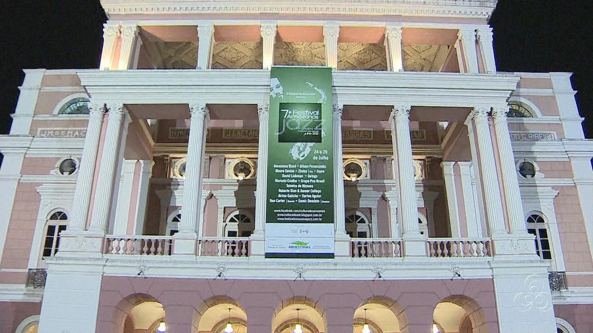 Teatro Amazonas é palco de evento de Jazz (Foto: Jornal do Amazonas)