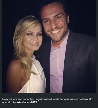 Eliana e Rodrigo Lombardi em evento em São Paulo (Foto: Instagram/ Reprodução)