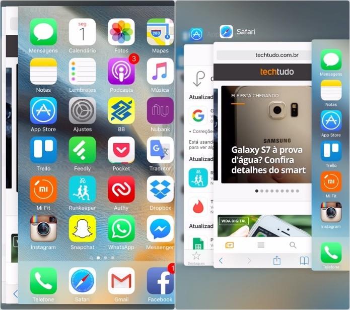Acesse a multitarefa e troque de aplicativos (Foto: Reprodução/Helito Bijora)