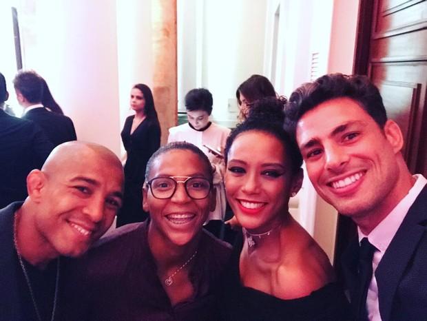 José Aldo, Rafaela Silva, Tais Araújo e Cauã Reymond  (Foto: Instagram / Reprodução)