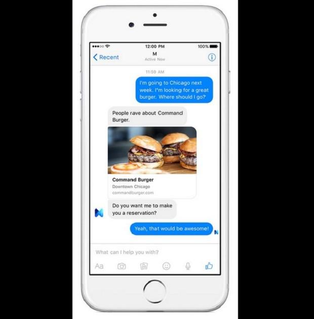 Facebook lança M, sua 'assistente pessoal'