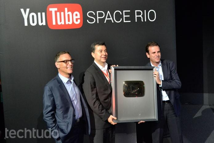 Canal que passar de 1 milhão de inscritos ganhará placa dourada do YouTube (Foto: Melissa Cruz/TechTudo)