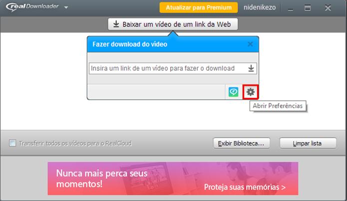 Acesse as preferências de download (Foto: Reprodução/Paulo Alves)