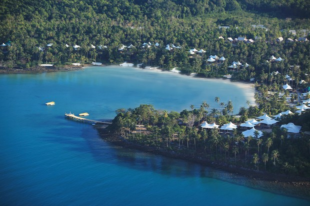 Vista aérea Soneva Kiri (Foto: Divulgação)