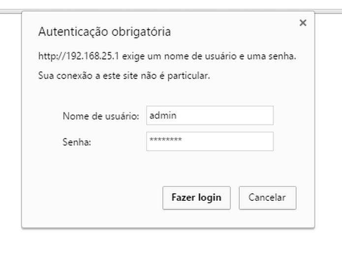 Acessando as configurações do roteador D-Link (Foto: Felipe Alencar/TechTudo)