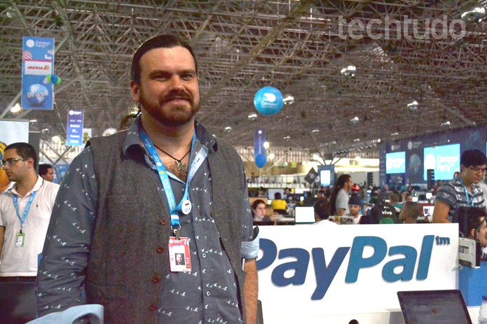 Diretor global de desenvolvimento de redes do PayPal, John Lunn (Foto: Melissa Cruz/TechTudo)