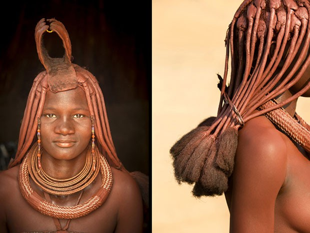 Imagens do fotógrafo Philip Lee Harvey mostram mulheres da tribo Himba, na Namíbia (Foto: Philip Lee Harvey/www.tpoty.com/BBC)