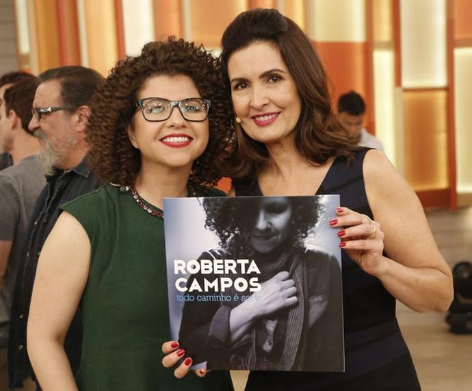 A cantora Roberta Campos com a Fátima  (Foto: Raphael Dias/Gshow)