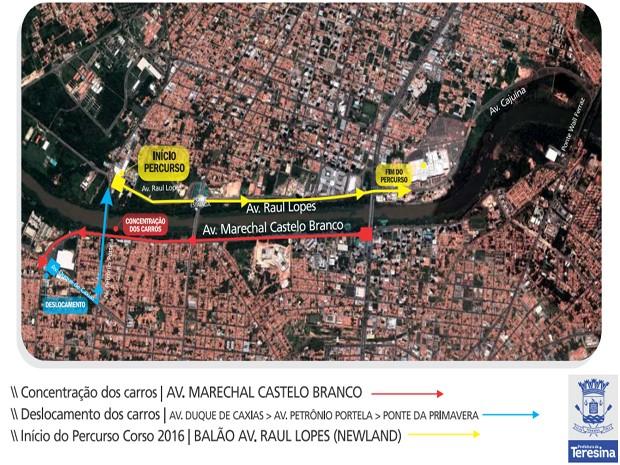 10 avenidas serão interditadas a partir das 8h e uma ponte bloqueada (Foto: Divulgação)