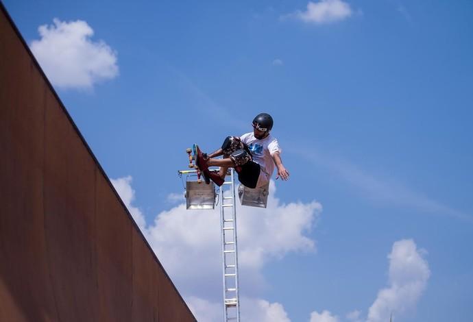 Diego Bigode, do skate vertical, revela ter medo de altura (Foto: Francisco Costa/Divulgação)