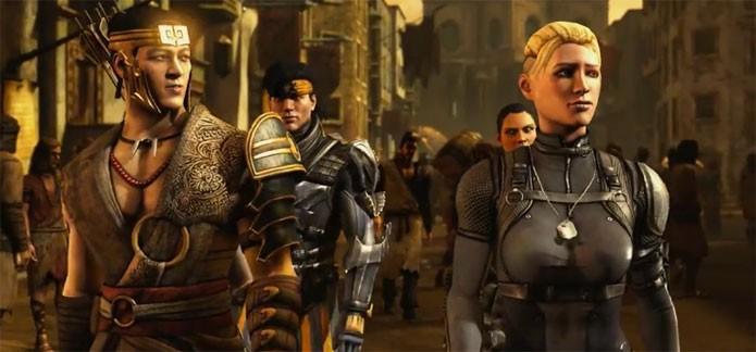 Takeshi e Cassie aparecem no novo trailer de Mortal Kombat X (Foto: Divulgação)