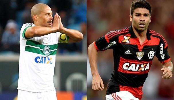 Futebol Coritiba x Flamengo  (Foto: Reprodução Globoesporte)