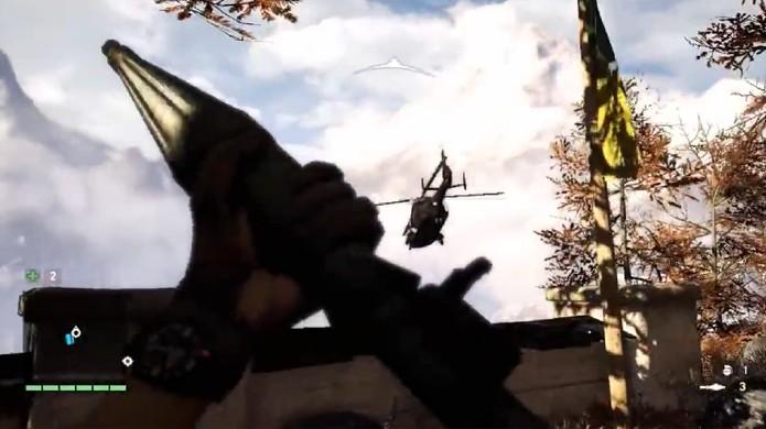 O último final pode ser conseguido abatendo o helicóptero de Pagan Min no ar (Foto: Reprodução: YouTube)
