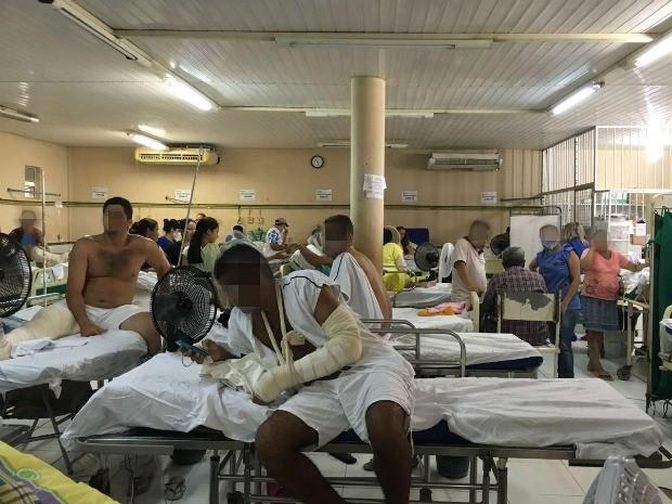 Sindicato denuncia más condições de atendimento nos hospitais de Fortaleza (Foto: Sintsaf/Divulgação)
