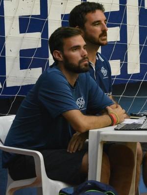 Jornalistas espanhóis volta ao mundo basquete (Foto: Cairo Barros)