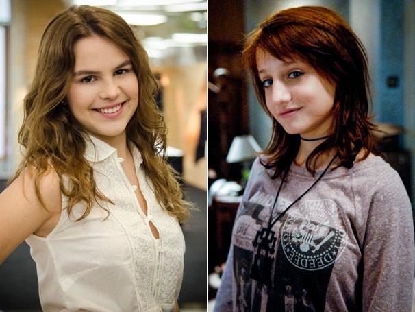 Bianca Salgueiro vive a protagonista Anita ; Bruna Griphao é Giovana, uma aspirante a rock star (Foto: Divulgação/TV Globo)