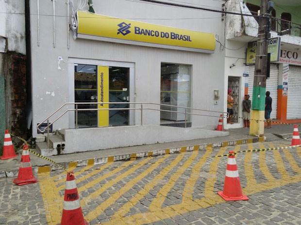 Banco do Brasil de Conde, na Bahia, é isolado para perícia (Foto: Arquivo Pessoal)
