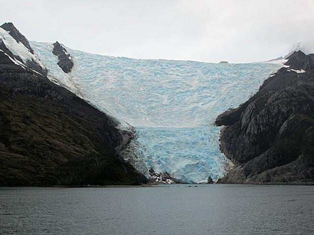 Geleira na volta da Antártica (Foto: Eduardo Carvalho/G1)