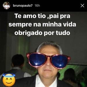 Bruno Paulo pai Camacho (Foto: Reprodução Snapchat)