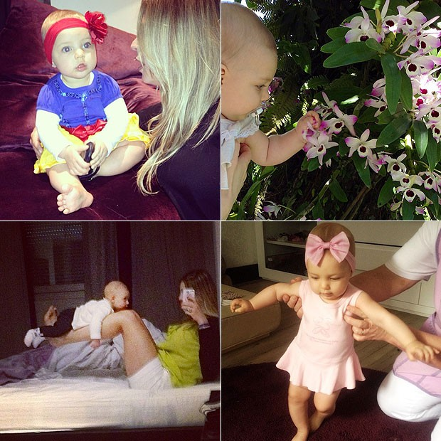 Sheila Mello não para de compartilhar fotos (e babar) pela filha, Brenda (Foto: Reprodução/Instagram)